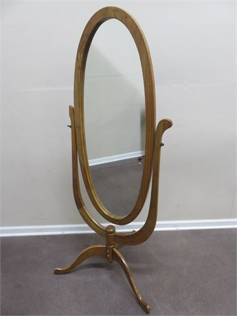 Oak Floor Mirror