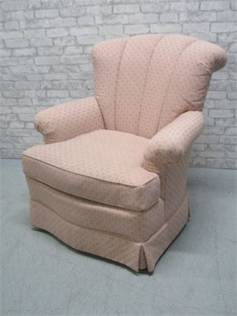 LADD FURNITURE PINK UPHOLSTERED SIDE CHAIR