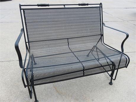 Wrought Iron Glider Bench