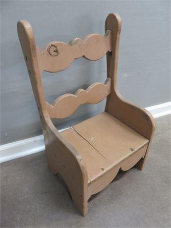 Wooden Children's Chair