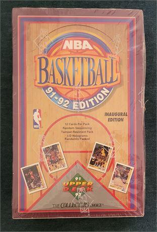 1991-92 Upper Deck Basketball Factory Sealed Wax Box Inaugural Edition