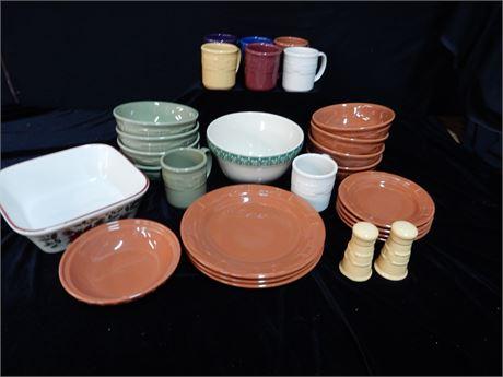 Longaberger Pottery Lot