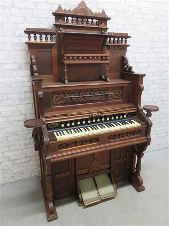 "Antique 1881 Sterling Company ""New Imperial"" Pump Organ"