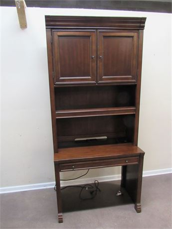 HOOKER DESK WITH HUTCH - 2 PIECES
