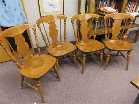 HEYWOOD WAKEFIELD Mid-Century Cinnamon Maple Chair Set