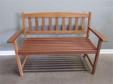 Nice Wood Patio Bench
