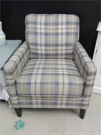 Ashley Furniture Plaid Occasional Chair - NEW