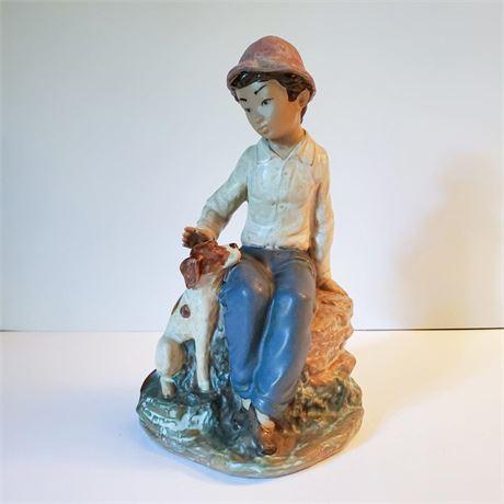 Nao Figurine Boy and Dog
