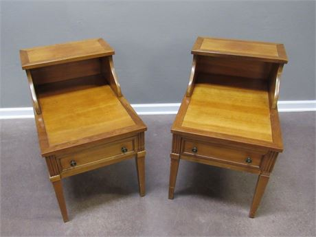 2 BRANDT VINTAGE 2-TIER END TABLES