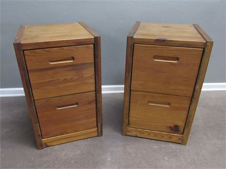 Pair of This End Up File Cabinets - or use as Nightstands/End tables