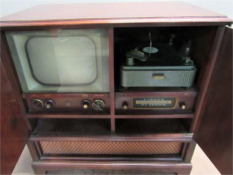 Vintage Philco Console TV/Radio with Turntable