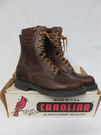 CAROLINA BOOTS Men's Leather Work Boots - SIZE 7.5D