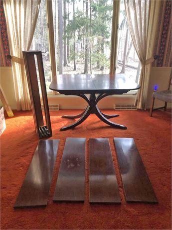 Vintage Mahogany Dining Table