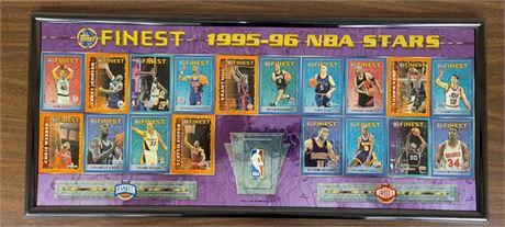 1995-96 TOPPS FINEST NBA FRAMED PICTURE