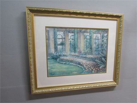 Framed Matted Signed and Numbered (#1412/3300) Print by Lena Liu