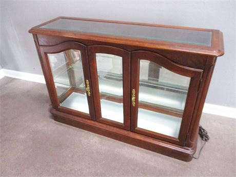 LIGHTED CREDENZA CURIO BY JASPER CABINET CO.