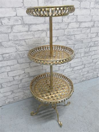 3-Tier Wrought Iron Plant Stand
