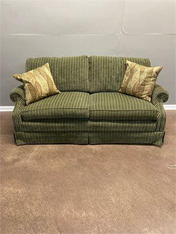 Michael Thomas Green Two Cushion Sofa