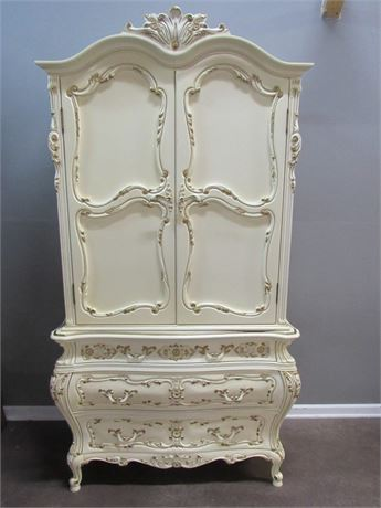 Vintage Montalbano 60th Anniversary French Provincial Bombay Style Chest/Armoire