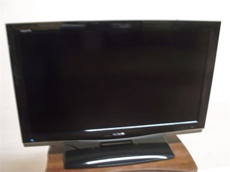"SHARP AQUOS 37"" FLAT PANEL TV WITH REMOTE"