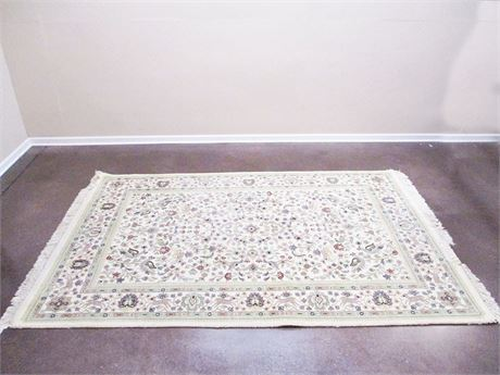 "BEAUTIFUL IVORY/NEUTRAL AREA RUG (8'10"" X 5'10"")"