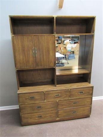 Bernhardt Dresser with Mirrored Hutch
