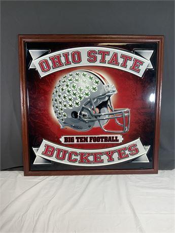 Ohio State Tin Wall Art
