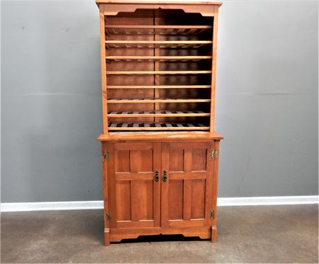 Two Piece Wood Wine Cabinet