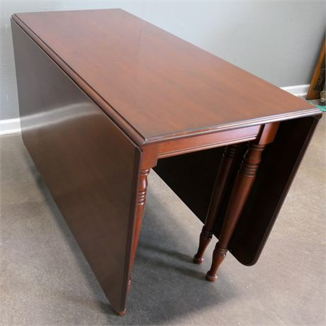 Vintage Cherry colored Drop Leaf (Full Size) Table