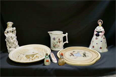 Eclectic Mix of figurines and plates