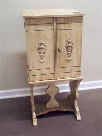 ANTIQUE HUMIDOR/SMOKING STAND