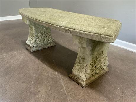 Aged Concrete Stone Bench