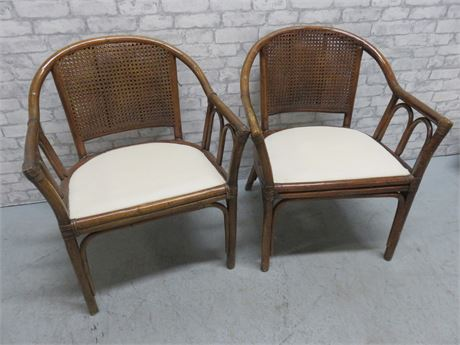 Rattan Cane Back Chairs