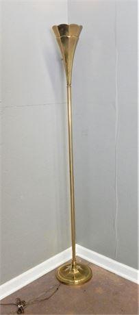 Vintage Brass Tulip Shape Floor Lamp
