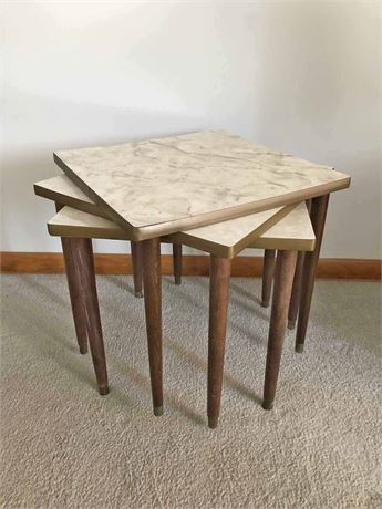 Mid Century Stackable Tables