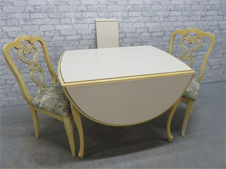 French Provincial Drop Leaf Dining Set