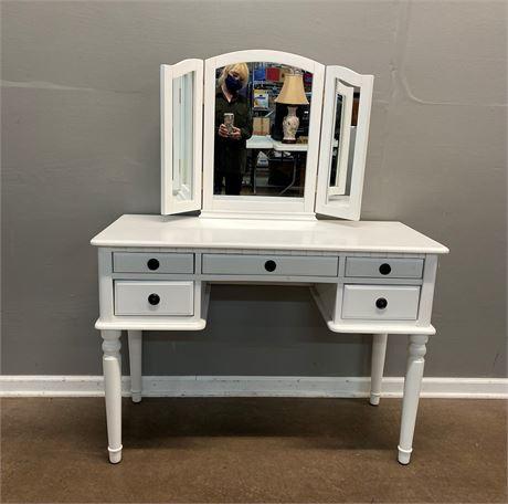 White Vanity with Mirror