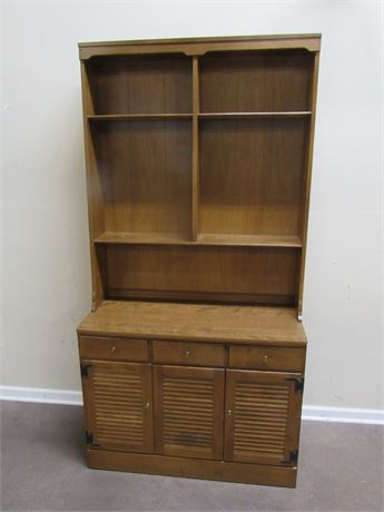 ETHAN ALLEN BOOKCASE/DISPLAY HUTCH