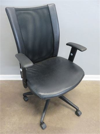 Office/Desk Adjustable Swivel Arm Chair with Mesh Back