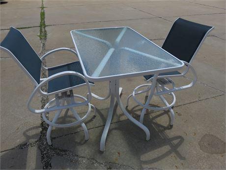 High Top Aluminum Patio Set