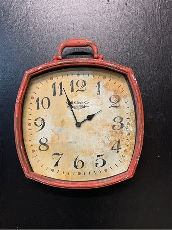 Red Vintage Like Wall Clock