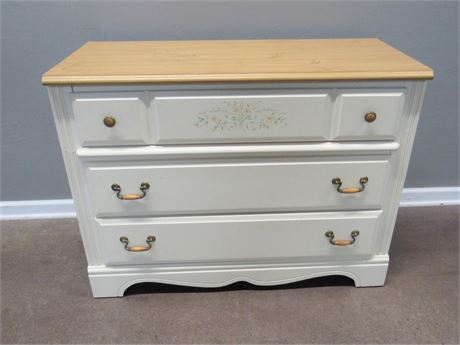 Nice 3-Drawer Painted/Stenciled Chest