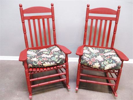 LOT OF 2 CHARMING ROCKING CHAIRS