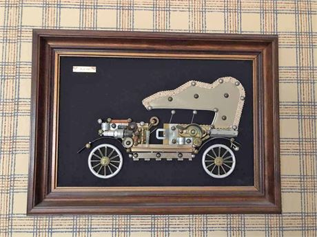1920 Buick Framed 3D Wall Art