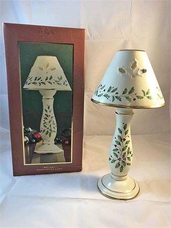 Lenox Holiday Candlestick Lamp