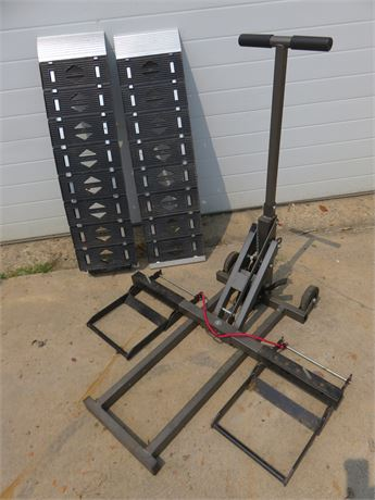 Lawn Tractor Lift & Ramps