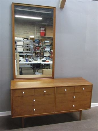 Vintage Mid Century Modern Drexel Declaration Collection Dresser with Mirror