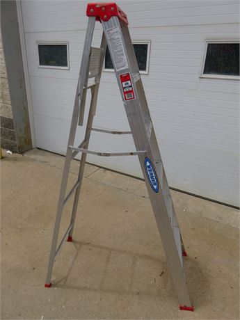 WERNER Saf-T-Master 6 ft. Aluminum Step Ladder