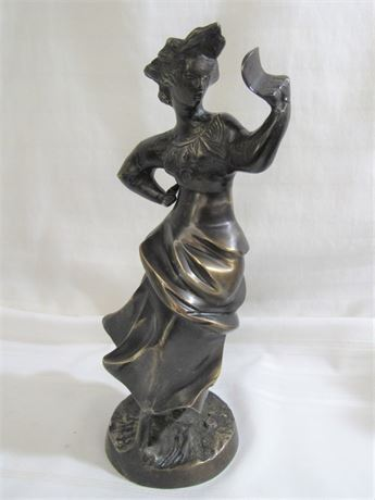 BRONZE STYLE FEMALE FIGURINE