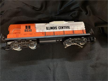 Vintage Lionel Illinois Central 8030 Diesel Locomotive O-Gauge